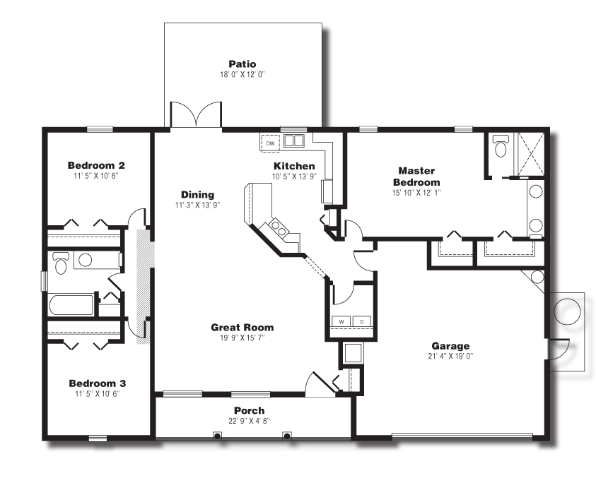 The Sand Key Home Layout